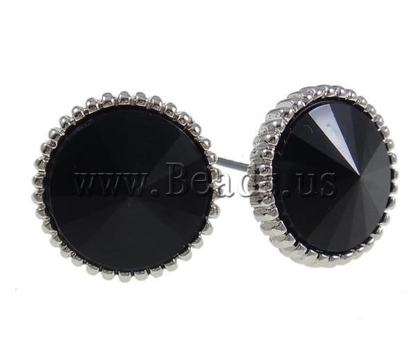 flat black earrings for men - photo #9