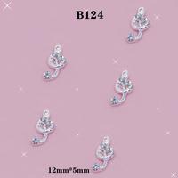 DIY 3D Alloy AB Nail Art Sparkling Rhinestones Musical Symbols Design Glitters Decorations Size:12*5mm # B124