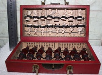 Free Shipping  Chinese 32 pieces chess set/box/Xian Terracota Warrior