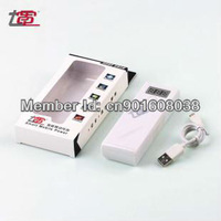 Seven section 2 Sanyo 18650 5200MAH mobile power 5V 2A 1A dual USB output power display charging Po