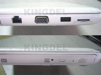 "New  KINGDEL  13.3 "" Notebook Computer, Intel Celeron 1037U Dual Core CPU, 4GB RAM, 320GB HDD,DVD-RW, 3D Games"