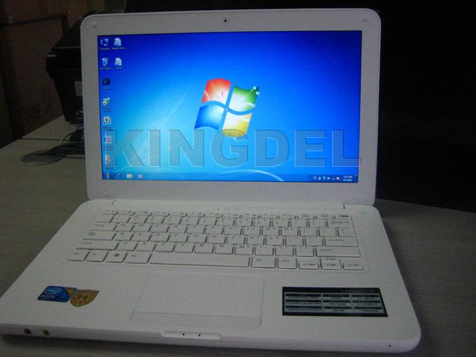 """2014 KINGDEL 13.3 """" laptop  with Intel Celeron 1037U Dual Core CPU+2GB RAM+640GB HDD+DVD-RW+3D Games+wifi"""