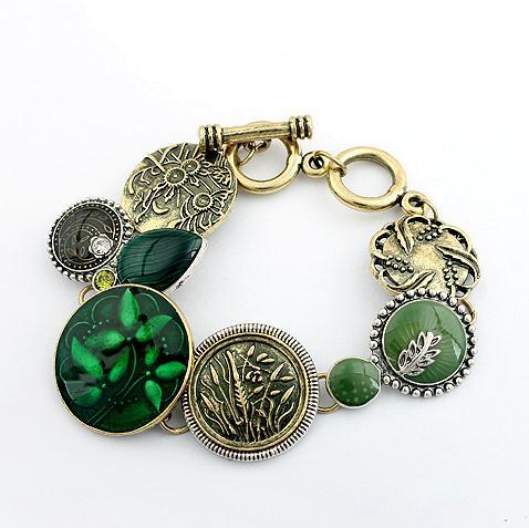 Min. order is $10(mix) 752 new emerald bracelet fashion women bracelet wholesale 2013(China (Mainland))