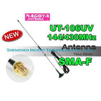 Free shipping 10 pcs Nagoya Dual band UT-106 SMA Female mobile antenna for Ham radio VHF UHF