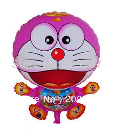 10Pcs/Lot Free Shipping Pink Cat Balloons Happy Birthday Party Baby Shower Favors Balloon(China (Mainland))