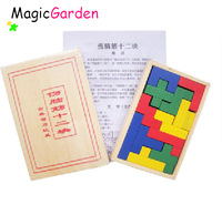 Free shipping!!! Wooden Educational Toy ,Wooden Puzzle,Brain Teaser,Colorful Pentomino, IQP084