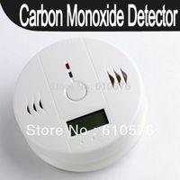 New CO Carbon Monoxide Alarm Poisoning Smoke Gas Sensor Warning Detector Tester LCD  Free Shipping