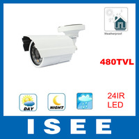 24 IR LED CMOS 480TVL outdoor waterproof cctv surveillance camera Home Security Freeshipping