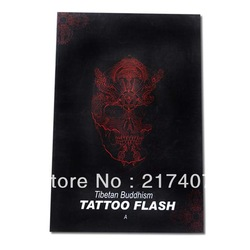 Free Shipping Tibetan Buddhism Tattoo Flash Sketch Reference Book Vol.A in Hardcover A3 New(China (Mainland))