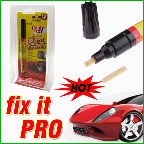 Dropshping Fix it PRO Painting Pen Car Scratch Repair for Simoniz Clear Pens As seen on TV Retail Packing(China (Mainland))