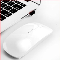 Free Shipping Ultra-thin 2.4 Ghz RF Wireless Mouse For Laptop Macbook Pro Air Mac OS