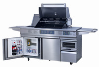 Exported to Europe and America stainless steel gas BBQ Large commercial home outdoor barbecue pits