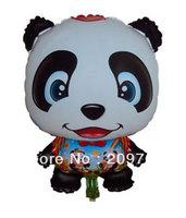 10Pcs/Lot  Free Shipping Panda  Balloons Happy Birthday Party Baby Shower Favors Balloon ARW0001