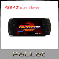 New Slim 4GB 4.3 Inch Full Touch Screen +3D game+HDMI+movable Battery MP5 Video Game Player/Console,free shipping