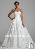 custom made 2013NEW! Strapless Taffeta Ballgown with Beaded Detail Style CWG549 wedding  dress