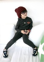 13022531  Children's clothing set  Boy's Hoodies Sweater Suit  Long-sleeved Hoodies + Long  Trousers  Mini Letters