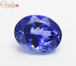 2.2ct AAAA Natural D'Block Tanzanite Oval Cut Deep Bluish Viole(China (Mainland))