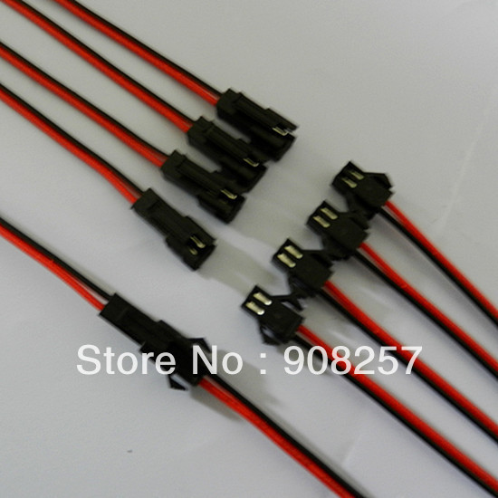 free shipping 50 Set Connector 2 Pin with 15cm Wire for Led Strip Male Led Lamp Driver Female(China (Mainland))