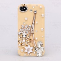 Fashion Cell Phone Crystal Case kit with bling Alloy and Rhinestone for iphone4 4s Free Shipping