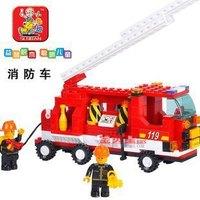 Xmas gift Sluban Building Block Set Construction Brick Toys Educational Pulzze Blocks toy for Children Free shipping JM015