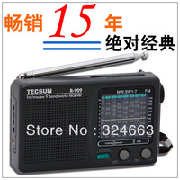 Free shipping Tecsun R-909 world band  transistor radio FM/MW/SW support  universal mode the listener of world