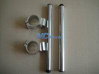 Free shipping Universal Adjustable CNC 36MM Fork Tube Clip Ons Handle Bar Handlebars silver 01