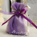 Retro Purple Cloth Pouch/Wedding Favor Holder/ Chocolate Bag/Candy Package