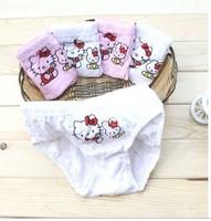 Free Shipping Wholesale Cotton cartoon cats children briefs Lycra cotton Underwears 12 pcs / lot