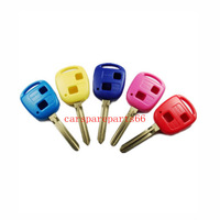 Free shipping fast delivery 50pcs/lot new uncut 2 buttons remote key blank (five colors)