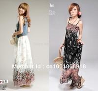 2013 Hot sale  Free shipping Bohemia Indigenous flavor long style brace chiffon maxi dress
