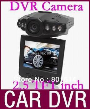 HD Car DVR Camera Wide Angle 120 Degree Rotation 2.5 LCD Car Driving Recorder H198 HOT 50pcs/lot Free DHL