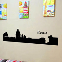 Rome doodle wall stickers background wallpaper wall decal