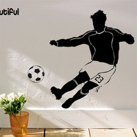 Doodle wall stickers sports wall stickers sofa wall beautiful football 100*70cm play beautiful boy's room