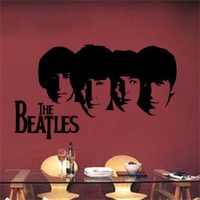 high quality The beatles endomorph doodle wall stickers bathroom music wall door window glass stickers wall decal  sizes 61*26cm