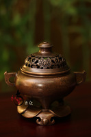 Copper lotus incense stove pure copper handmade level