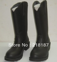 2013  genuine leather round toe medium-leg real leather boots women