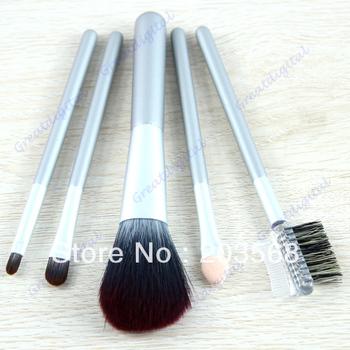 D19+Hot Sale 5pcs/set Three Colors Cosmetic Makeup Brush Eye Shadow Brow Lip Make-up Brushes