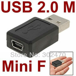 [HOT SELLING!] WHOLESALE 100pcs/lot AM/Mini 5 Pin BF USB Coupler(China (Mainland))