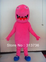 Free Shipping Adult Size New Pink Shark Fish Cartoon Cosplay Mascot Costume Christmas Hallowmas Party Dress