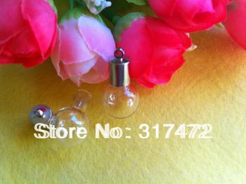 2013 New Round Bulb Vial Charm Perfume Ashes Bottle Pendant (miniature/glass/bottles/wish/vials/mini/pendant)