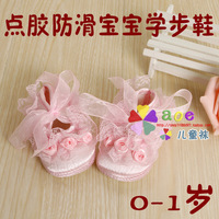 Spring and autumn baby princess shoes lace decoration soft sole shoes gel skidproof toddler shoes 5pcs/lot free shipping