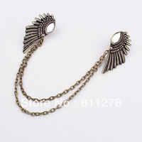 Min. order is $10(mix) 479 statement angle wing brooches wholesale 2013