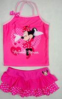 9013 Free Shipping wholesale 5 pieces in 1 lot  Minnie Baby kids children Swimwear Girl Bikini
