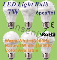 Free shipping 7W E26 globe Led lighting 85~265V 3 years guaranteed LED lamp comply with CE,RoHS ETL 6pcs/lot