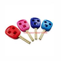 Free shipping 40pcs/lot new cheap four colors 3 buttons car key shell (short blade)