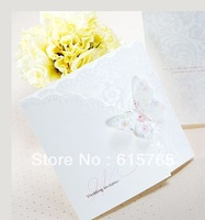 Spring Butterfly Tri-fold Wedding Invitation (Set of 50) Printable and Customizable Wholesale Free Shipping