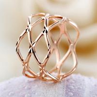 Gold fashion rose gold geometry cutout ring female ka161 fashion rings for women free shipping!