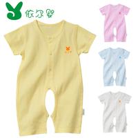 Infant summer clothing clothes full 100% cotton summer clothes newborn romper open file bodysuit romper