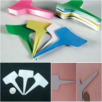 100pcs Plastic Plant Tags Markers Blank Pot Labels T-type 100mm x60mm