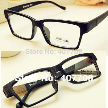 Free shipping! 2013 Newest eyewear women artifical wooden eye glasses frame  vintage men clear lens black plain eyeglasses Y56